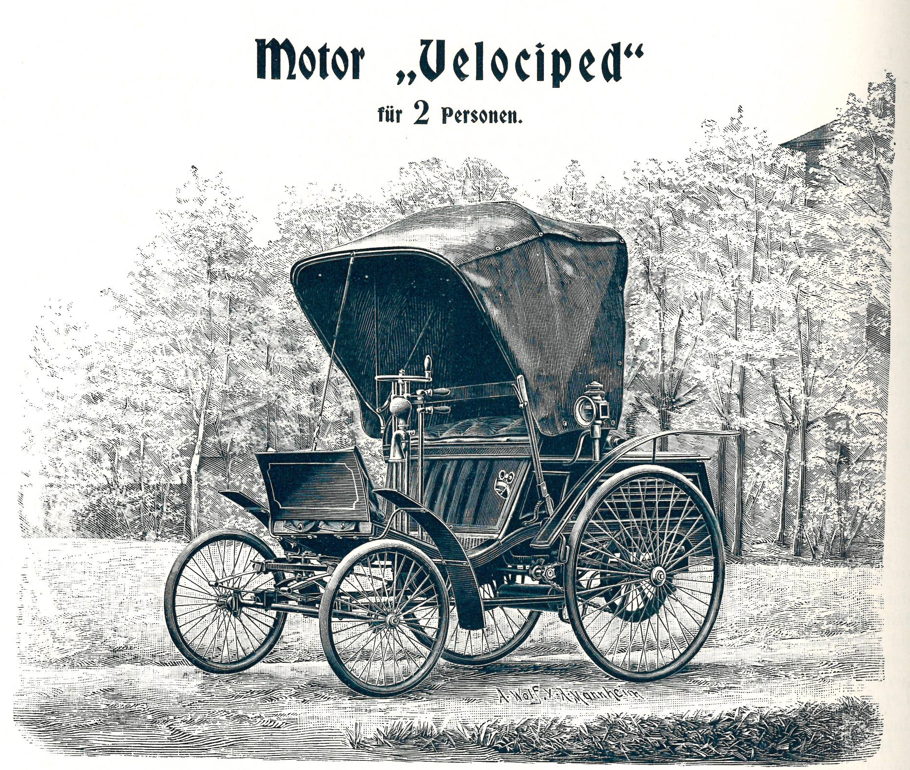 "Motor ""Velociped"" der Firma Benz"