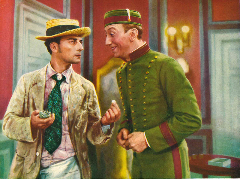 "Buster Keaton und George Davisas in dem Metro-Goldwyn-Mayer Film ""Casanova wider Willen"" (1931)"